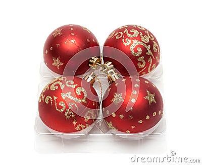 Red cristmas balls