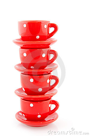 Red crockery