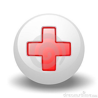 Red Cross On Ball Editorial Stock Photo