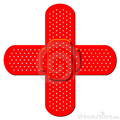 Red cross bandaid Editorial Stock Photo