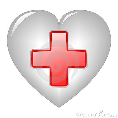Red Cross On Heart Editorial Stock Photo