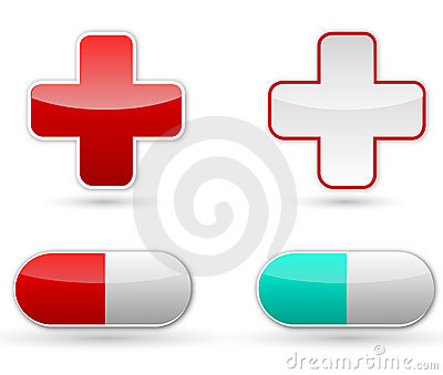 Red cross and pill Editorial Image