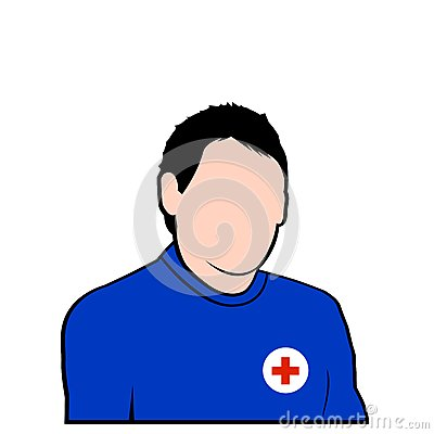 Red cross rescure face avatar