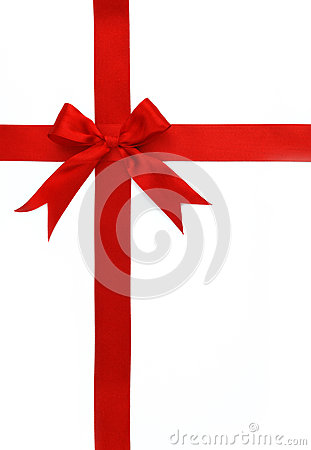 Free Red Cross Ribbon And Bow Royalty Free Stock Images - 9989829