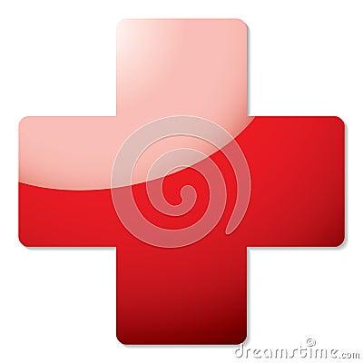 Red cross shadow
