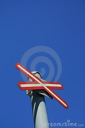 Free Red Cross Traffic Sign No Entry Stock Images - 15089264