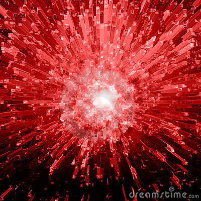 Red Crystal Explosion