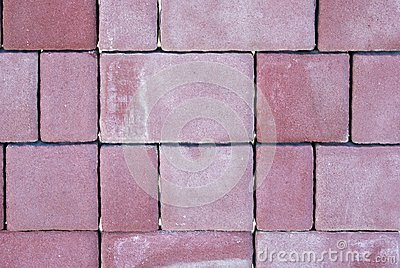 Red cube paving stone