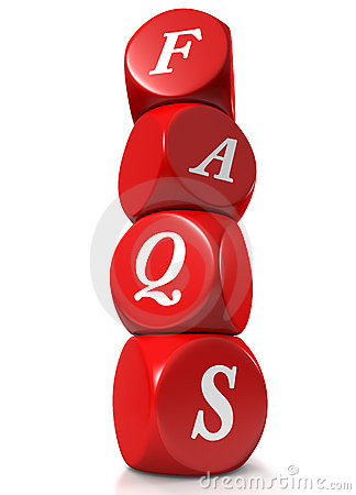 Red cubes illustrating FAQs