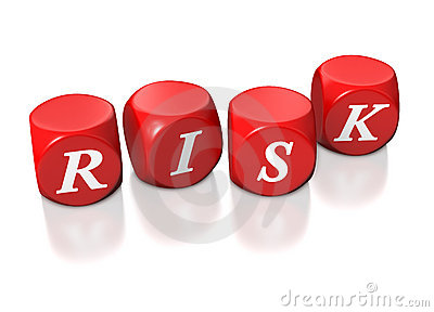Red cubes illustrating risk