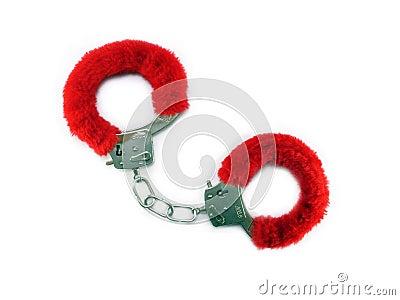 Red cuffs on white