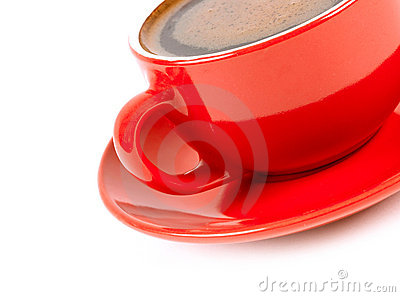 Red cup of coffe
