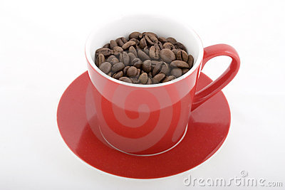 Red Cup of Coffee Beans