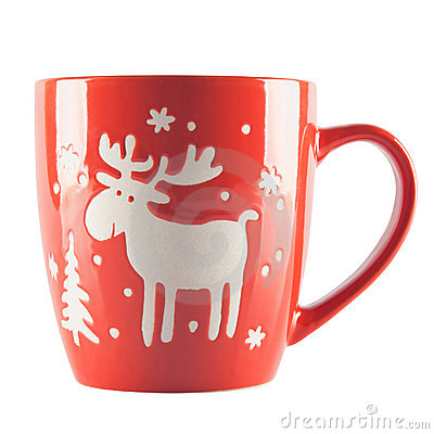 Red cup with ornament