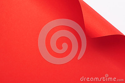Red curl paper