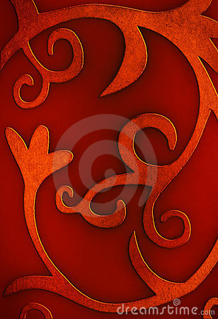 Free Red Curly Background Royalty Free Stock Image - 17204806