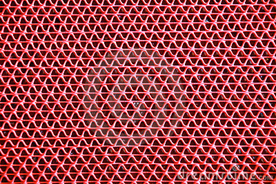 Red curly zigzag mat texture