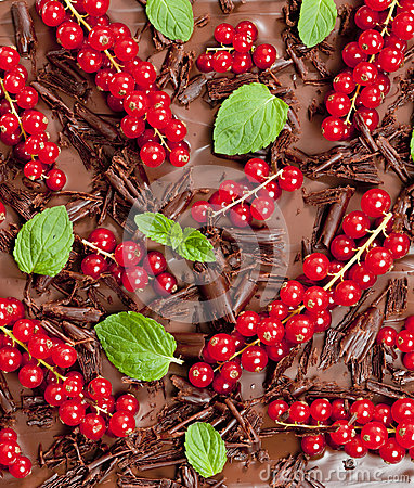Red currant and mint