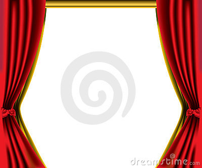 Red curtain border