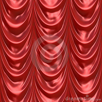 Red Curtain Drapery