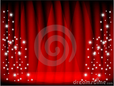 RED CURTAIN & STAGE