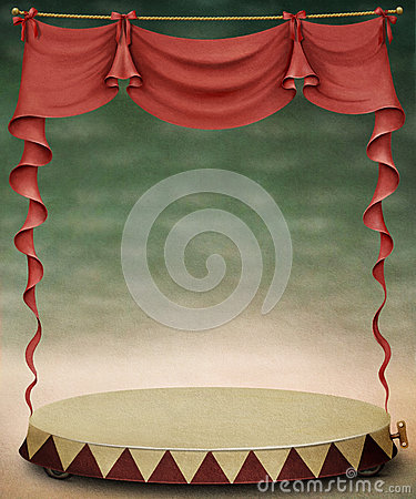 Circus Poster Stage Red Curtains Stock Photos, Images, & Pictures ...