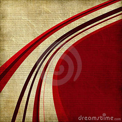 Red curved line background