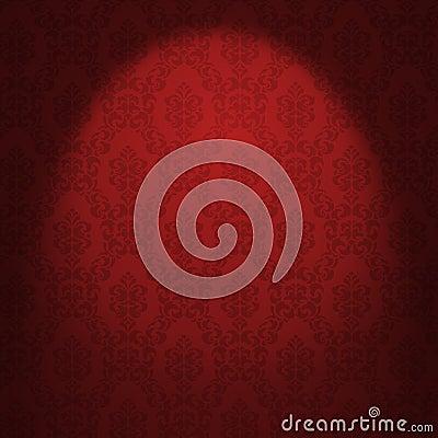 Free Red Damask Wallpaper Royalty Free Stock Photo - 23572845