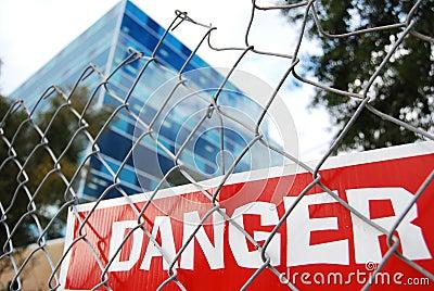 Red danger sign