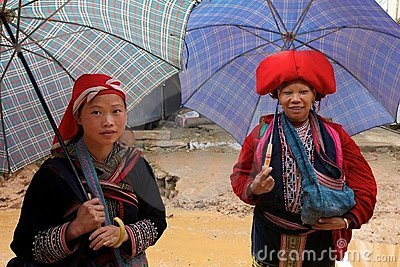 Red Dao Ehtnic Minority People of Vietnam Editorial Photo
