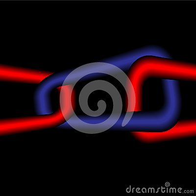 Red-dark blue infinite chain