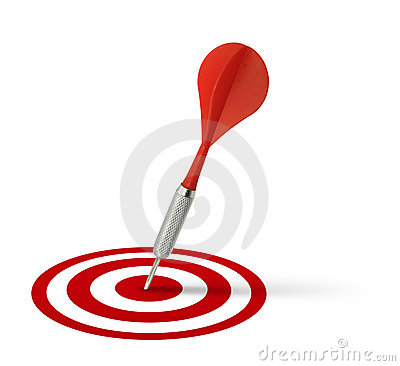 Free Red Dart Hitting Target Royalty Free Stock Images - 13915099