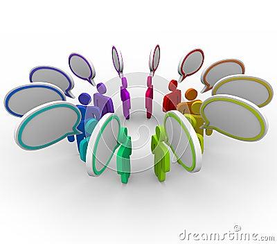 Red de la distribución de información - el hablar de la gente