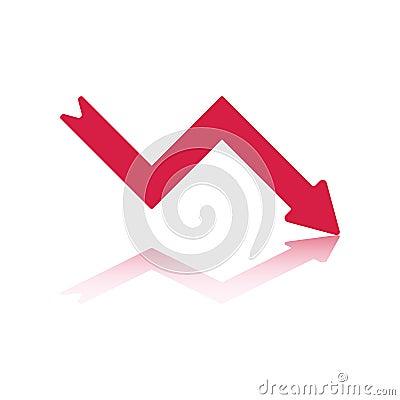 Red Decline Arrow