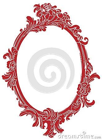 Red decor frame