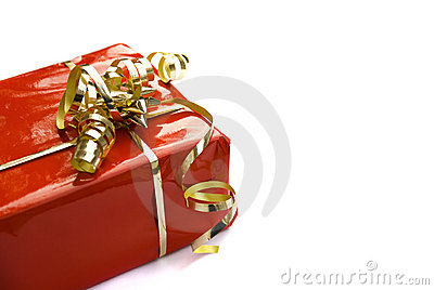 Red decorated gift-box