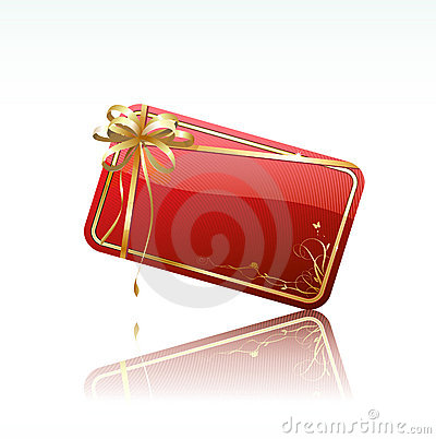 Red decorated gift card