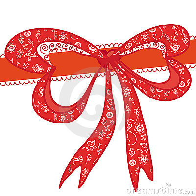 Red  decorational holidays bow