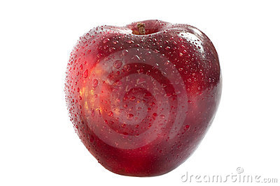 Red delicious apple isolated