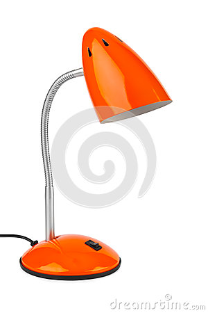 Free Red Desk Lamp Stock Photography - 43895812