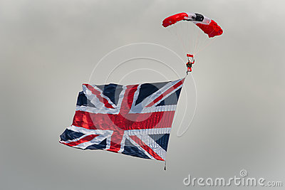 Red Devils Parachutist Editorial Photo