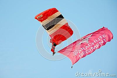 Red Devils Parachutist Editorial Photo