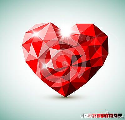 Red Diamond jewel heart