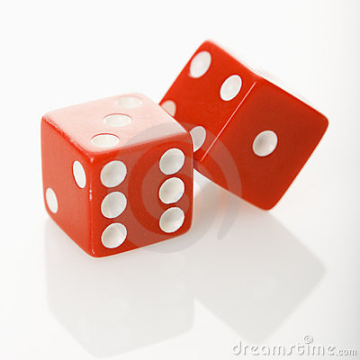 Free Red Dice. Stock Photography - 3531842