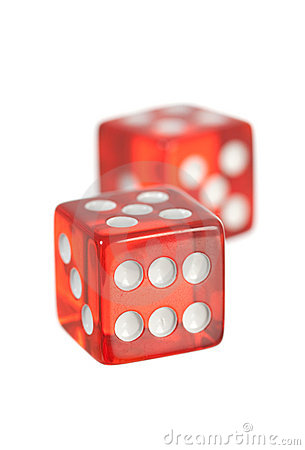 Free Red Dice Stock Image - 9809301