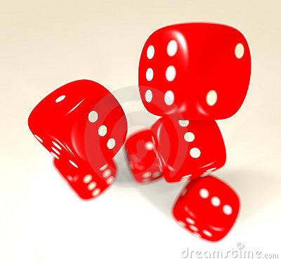 Red dice blur
