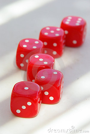 Free Red Dice On Table Stock Photos - 3177173