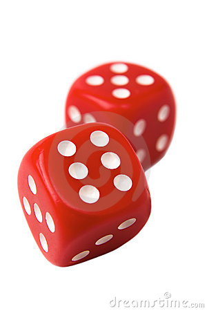 Free Red Dice On White Royalty Free Stock Images - 6017089