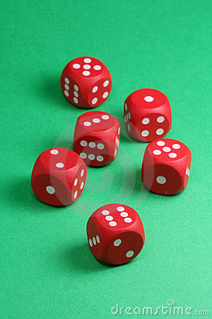 Free Red Dices Stock Images - 1749234