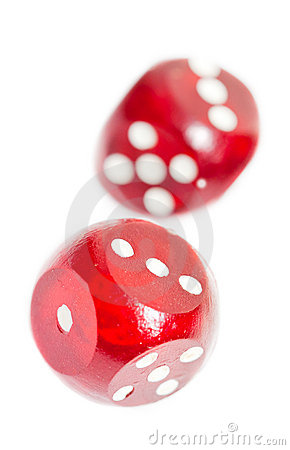 Free Red Dices Royalty Free Stock Photo - 17959695